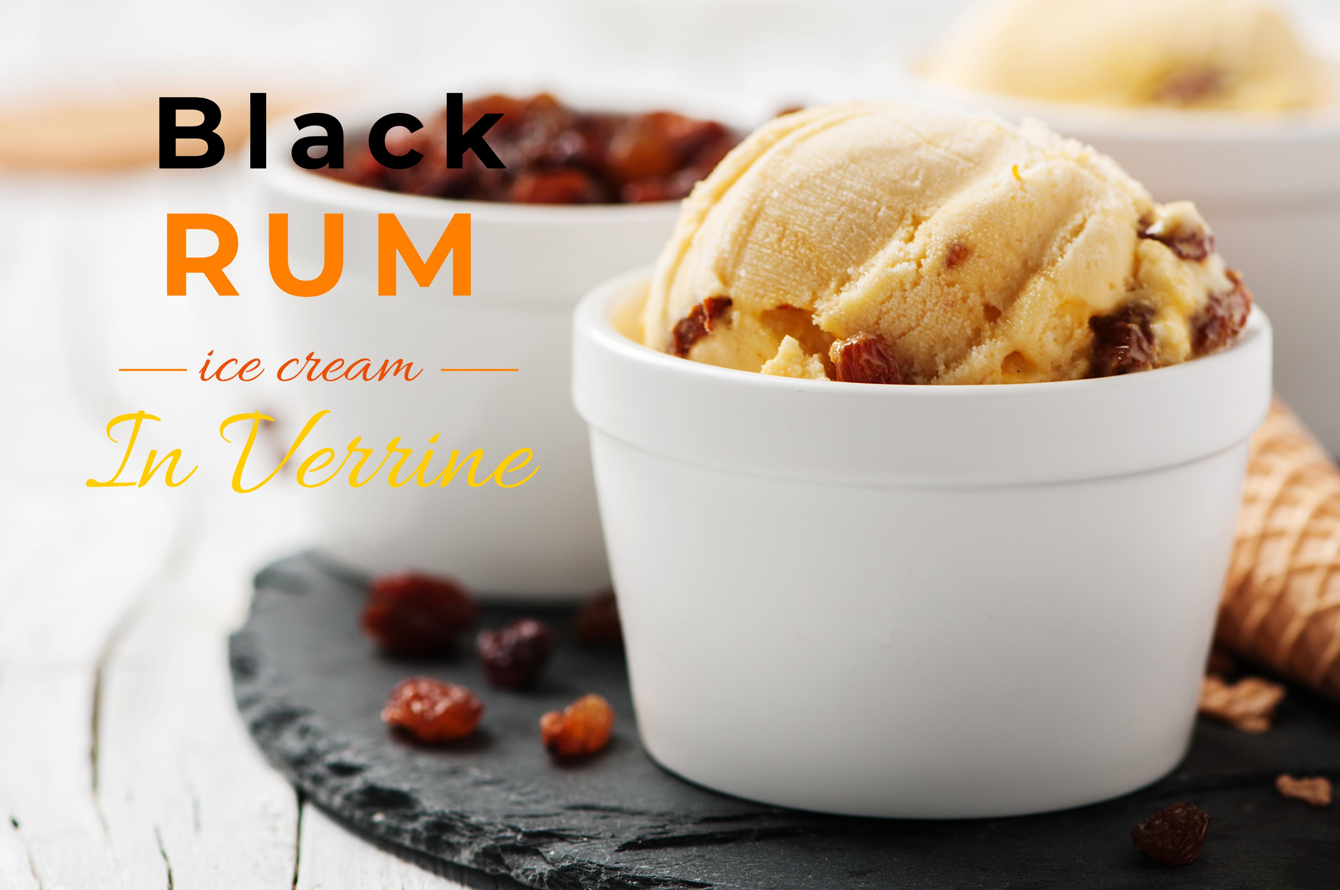 BLACK RUM ICE CREAM