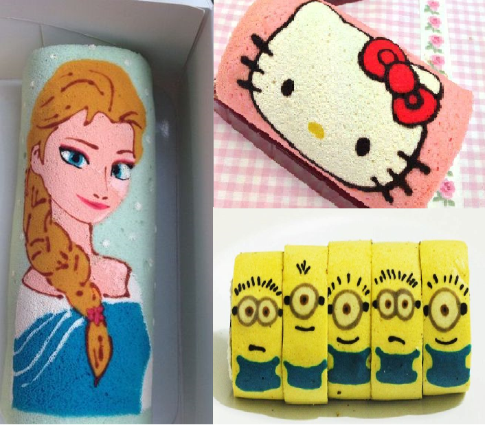 HELLO KITTY | FROZEN | MINIONS CAKE ROLL