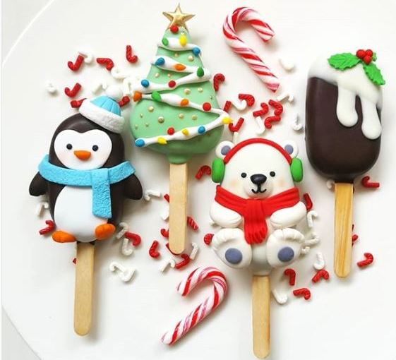 XMAS ΗΟLIDAY MINI POPS (CAKE POPS)