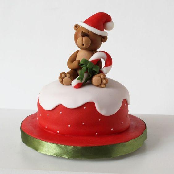 ΤΟΥΡΤΑ-ΒΑΣΙΛΟΠΙΤΑ:  XMAS TEDDY  BEAR